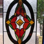 Custom leaded glass door insert