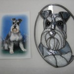 Stained glass from photo of pet