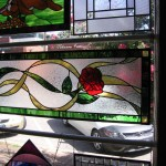 Custom leaded glass transom